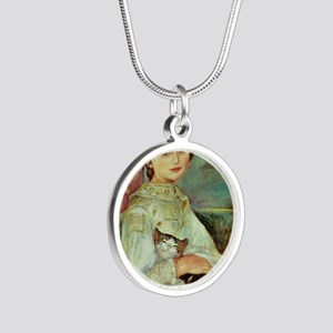 Julie Manet by Renoir Silver Round Necklace