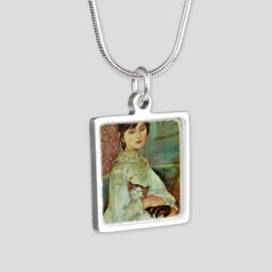Julie Manet by Renoir Silver Square Necklace