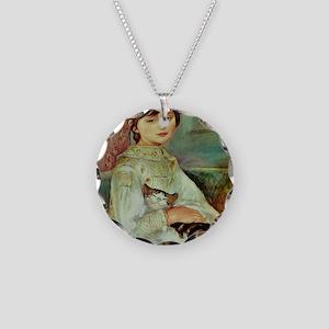 Julie Manet by Renoir Necklace Circle Charm