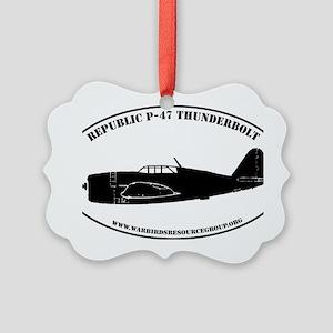 profile sticker #7 - Thunderbolt Picture Ornament