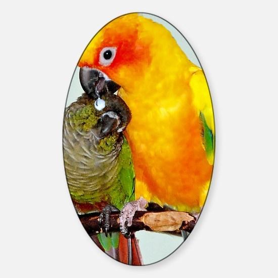 bird-ipad-sleeve Sticker (Oval)