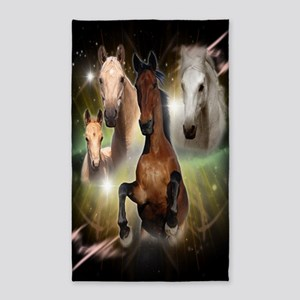 Horses Large 3'x5' Area Rug