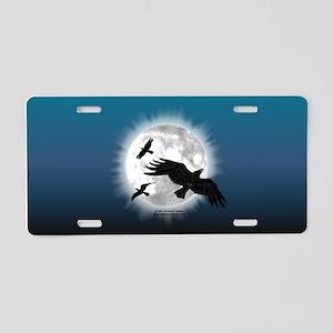 Crow Moon Aluminum License Plate