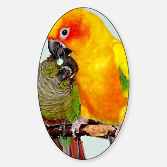 bird-ipad2 Sticker (Oval)