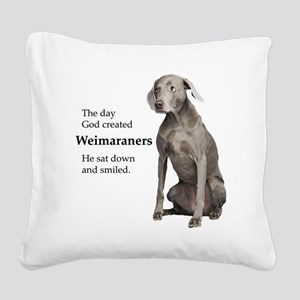 God-WeimLight Square Canvas Pillow