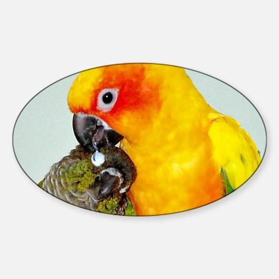 bird-coin-purse Sticker (Oval)