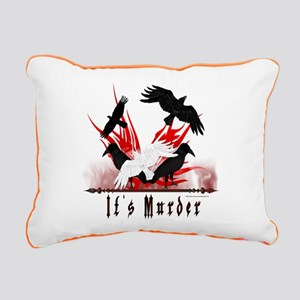 It's Murder Rectangular Canvas Pillow