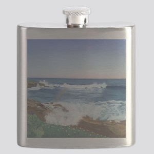 Rainbow in the Mist b shirt Flask