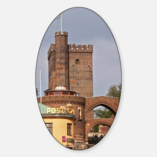 The Karnan medieval tower. Terrastr Sticker (Oval)