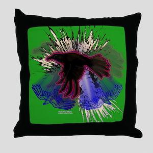 1st Crow Throw Pillow