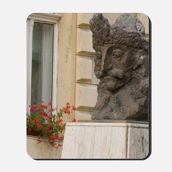 Statue of Vlad Tepes ( Vlad The Impeler) Mousepad