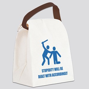 stupidity4 Canvas Lunch Bag