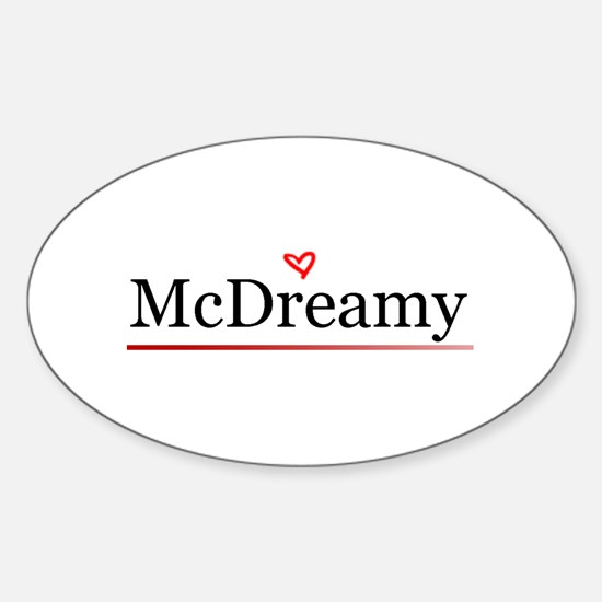McDreamy Grey's Anatomy Oval Decal