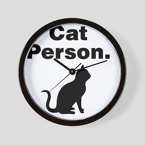 Cat Person. Wall Clock