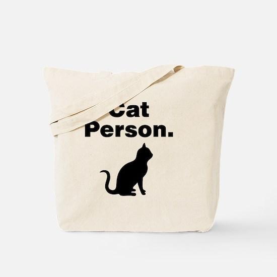 Cat Person. Tote Bag