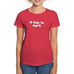 Due In April Women's Dark T-Shirt