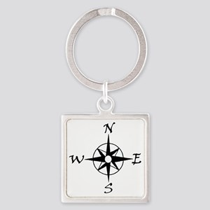 THE MORAL COMPASS IV Square Keychain