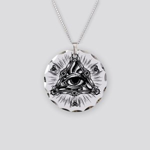 All seeing eye jewelry cafepress all seeing eye necklace circle charm mozeypictures Images