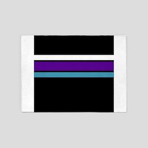 Team Colors2...Purple,light blue an 5'x7'Area Rug