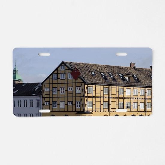 Sweden, Skane, Landskrona.  Aluminum License Plate
