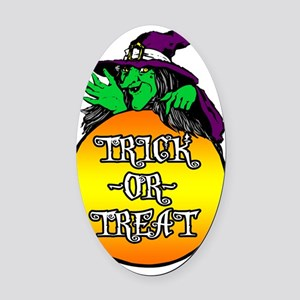 TRICK_OR_TREAT Oval Car Magnet