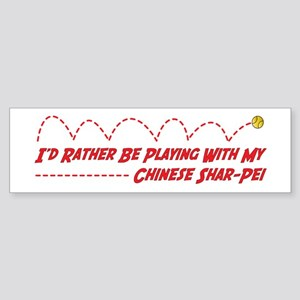 Shar-Pei Play Bumper Sticker