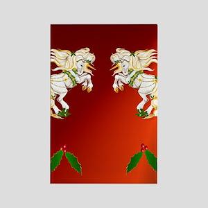 flipflops Christmas Unicorn Rectangle Magnet