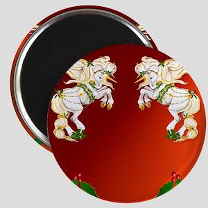 flipflops Christmas Unicorn Magnet