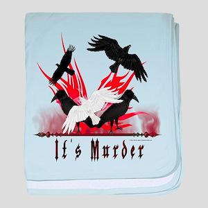 It's Murder baby blanket