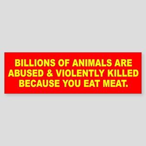 ANIMALS Bumper Sticker