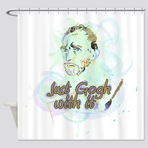 Just Gogh With It Vincent Van Gogh Shower Curtain