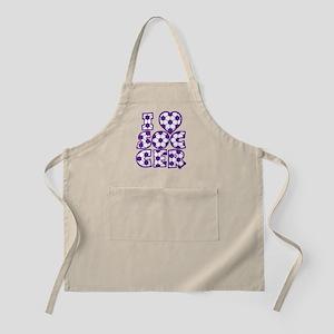 purple Love Soccer Block Apron