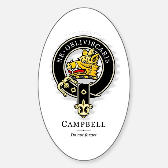 Clan Campbell Oval Decal