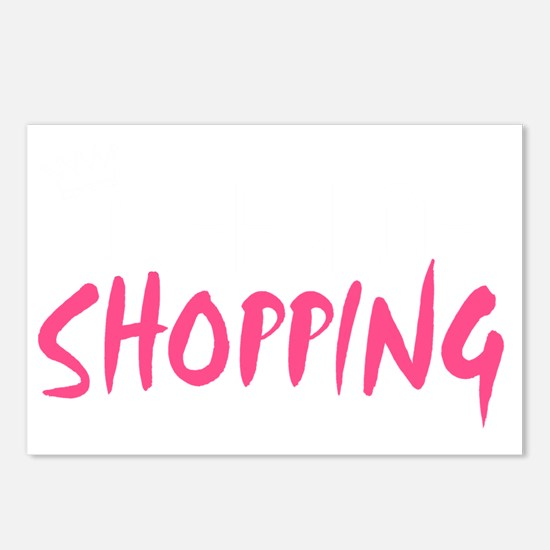 Queen of shopping light Postcards (Package of 8)