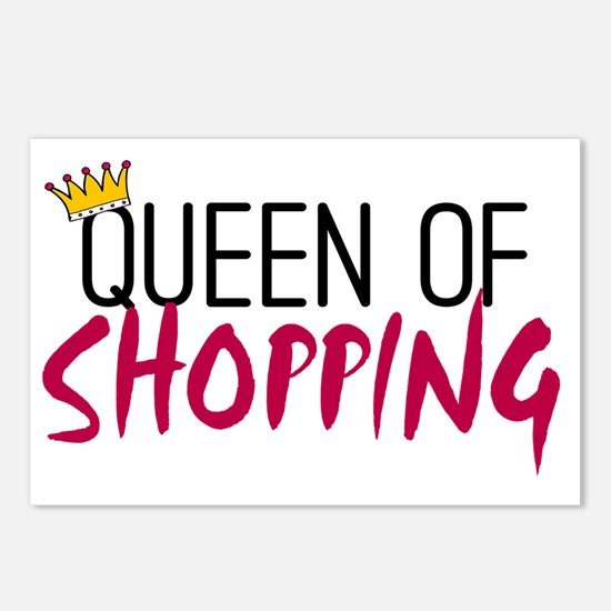 Queen of shopping Postcards (Package of 8)