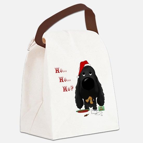 BlkCockerBlueShirt Canvas Lunch Bag