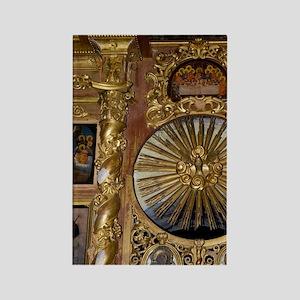 Interior. Gold altar detail Uglic Rectangle Magnet