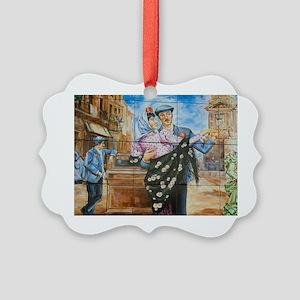 Spanish dancer tilesric San Pedro Picture Ornament