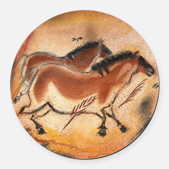 cave-drawing-1 Round Car Magnet