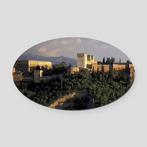 Europe, Spain, Granada, Andalusia. Oval Car Magnet
