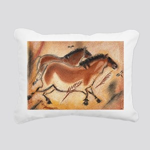 cave-drawing-wide Rectangular Canvas Pillow