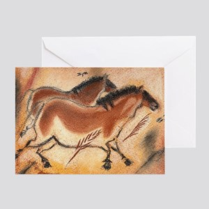 cave-drawing-wide Greeting Card