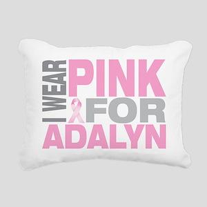 I-wear-pink-for-ADALYN Rectangular Canvas Pillow