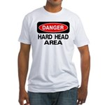 Danger Hard Head Area Fitted T-Shirt