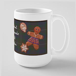 Commando Kilt Checker Christmas Large Mug