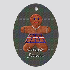 Ginger Jamie Oval Ornament