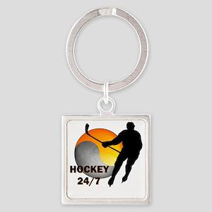 hockey24/7 Square Keychain