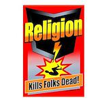 Religion: Kills Folks Dead Postcards (Pack of 8)