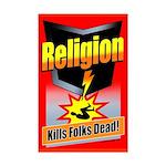 Religion: Kills Folks Dead! Mini Poster Print