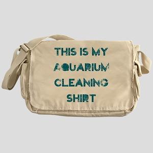 This is my aquarium cleaning shirt Messenger Bag